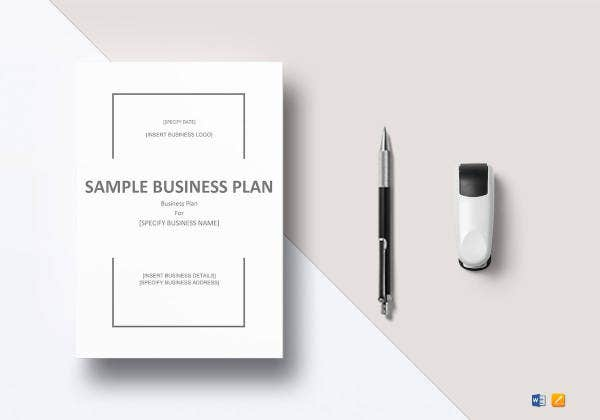easy to print business plan template