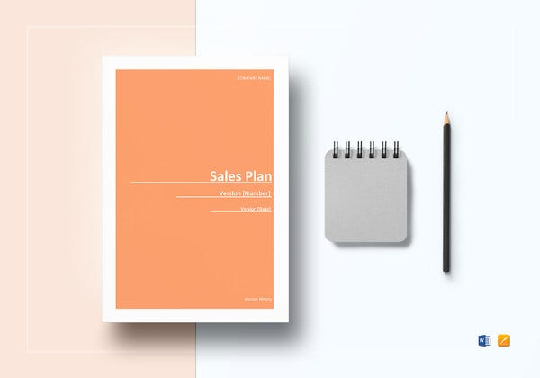 editable sales plan word template
