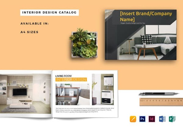elegant interior catalog template