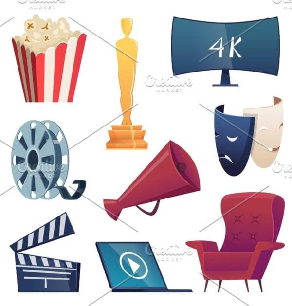 entertainment cartoon cinema icons