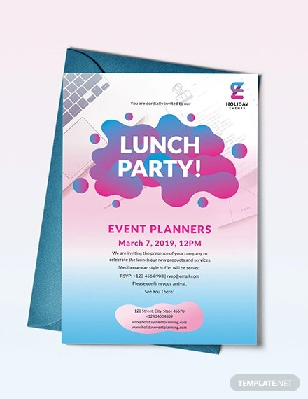 event planner invitation template