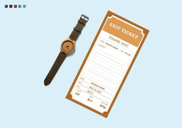 exit-ticket-template-in-psd
