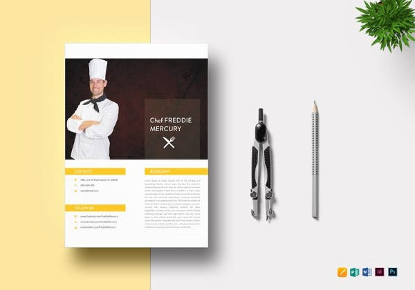 experienced-chef-resume-template