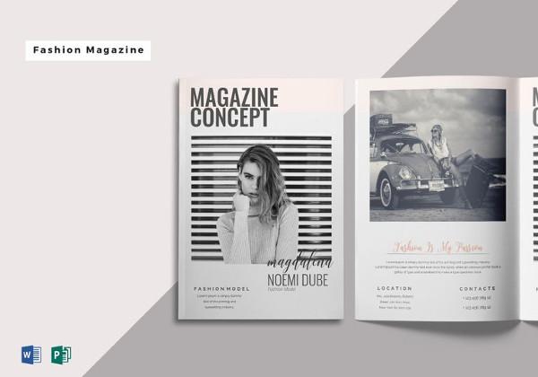 21  minimalistic magazine templates