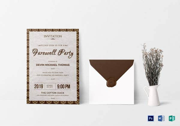 14+ Farewell Potluck Invitations - JPG, Vector EPS, Ai ...