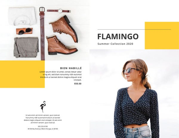 fashion catalog templates