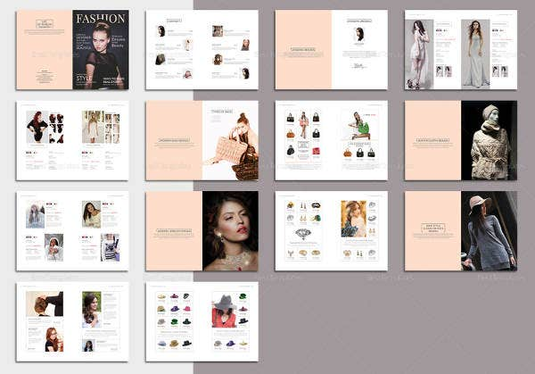 fashion magazine template in psd format