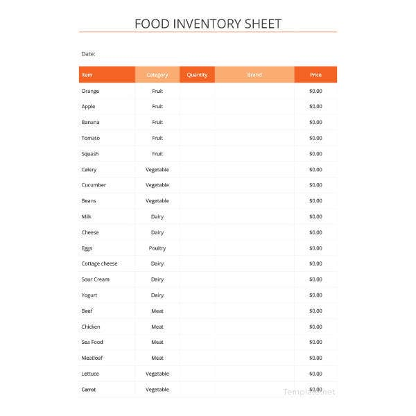 food-inventory-spreadsheet-template