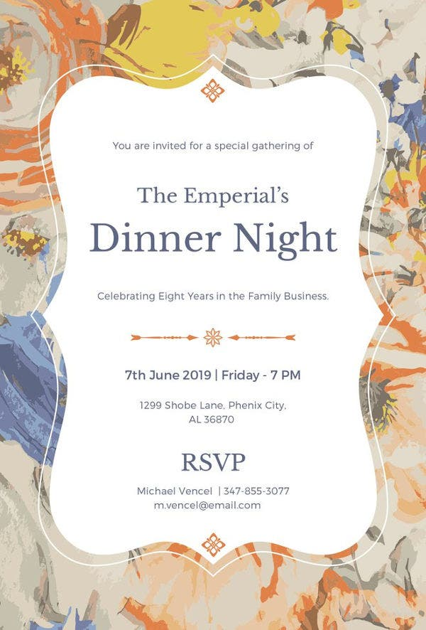 54 Dinner Invitation Designs Psd Ai Free Amp Premium
