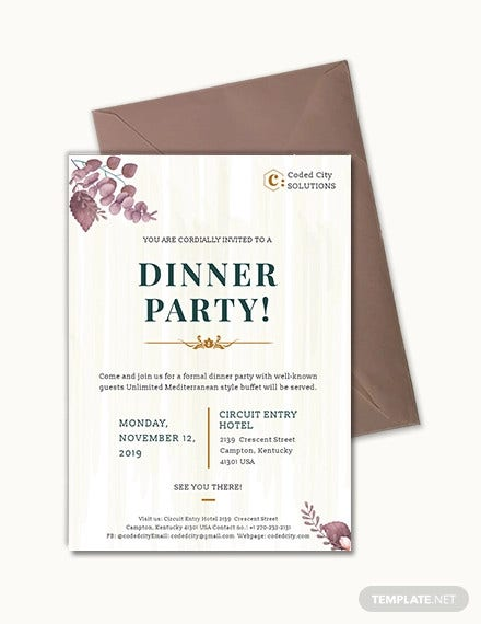 56 Dinner Invitation Templates In Psd Free Premium