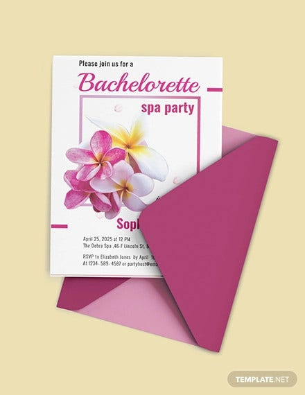 free bachelorette spa party invitation template1
