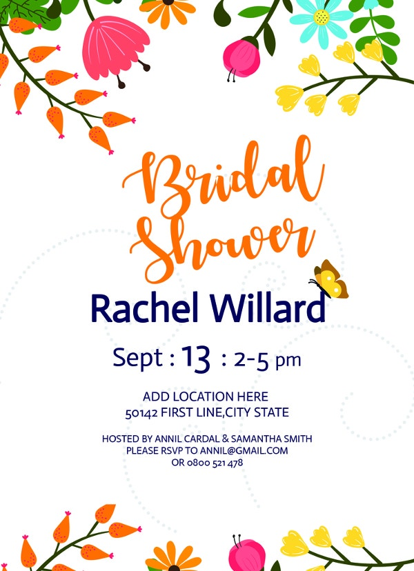 free bridal shower invitation to print
