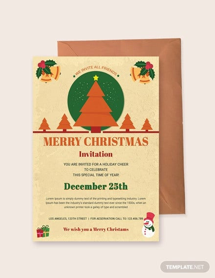 free christmas holiday invitation
