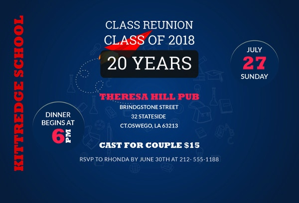16 reunion invitation templates free premium design templates free class reunion invitation template stopboris Images
