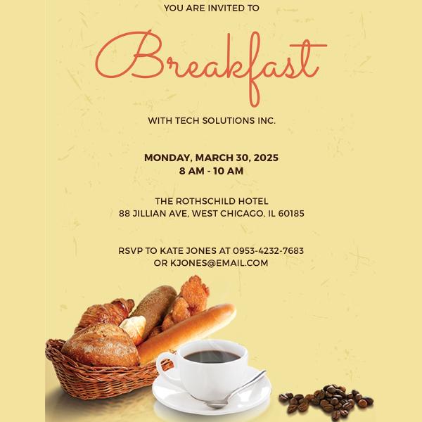 free-company-breakfast-invitation-template