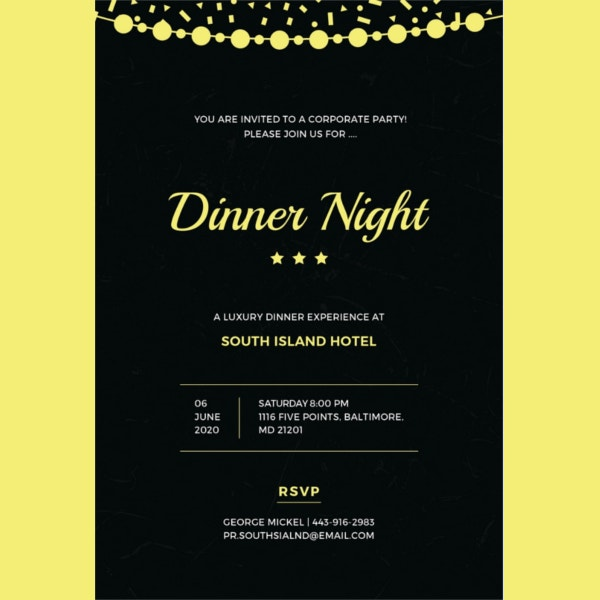 free-company-dinner-night-invitation-template
