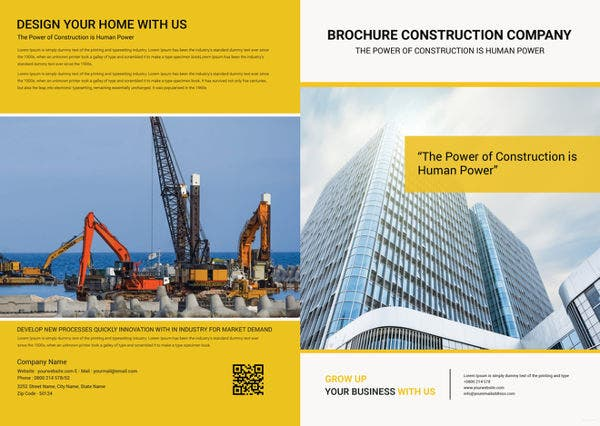 free-construction-brochure-template
