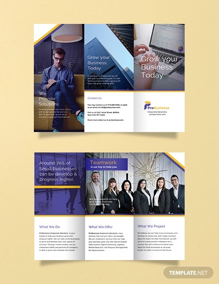 free corporate business brochure template1