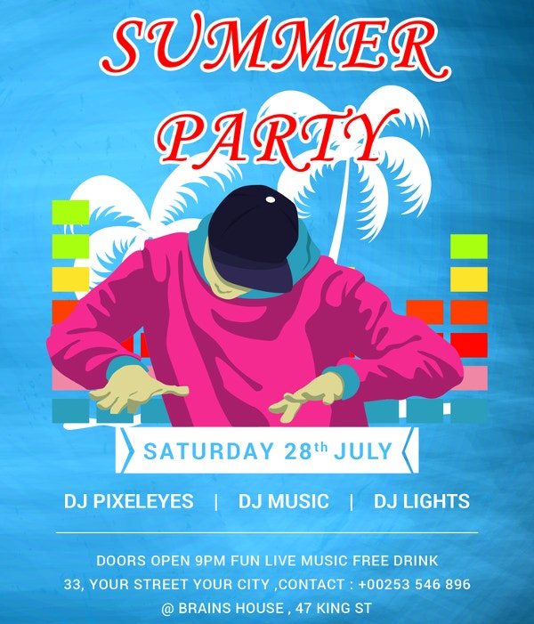 free-dj-summer-party-invitation