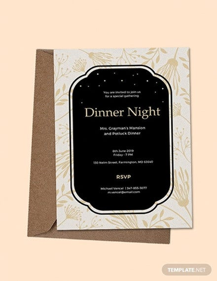 free dinner invitation template2