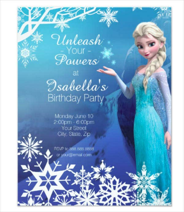 free frozen party invitation template1