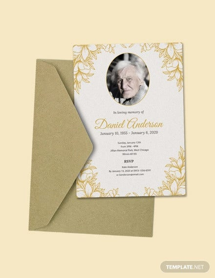 free funeral ceremony invitation template1