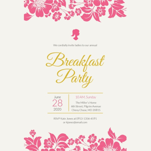 free-ladies-breakfast-invitation-template