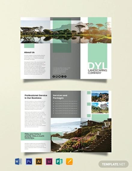 free landscape company brochure template