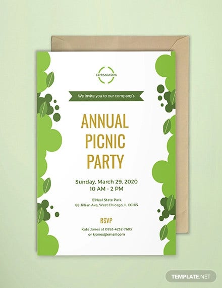 free office picnic invitation template