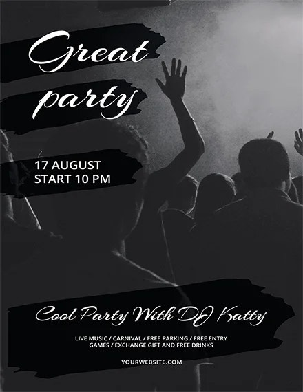 free party flyer template