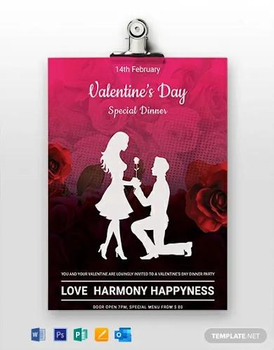 free printable valentines day menu