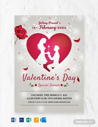 free romantic valentines day menu