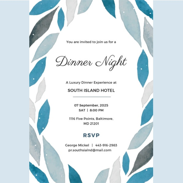 free-sample-company-dinner-invitation-template