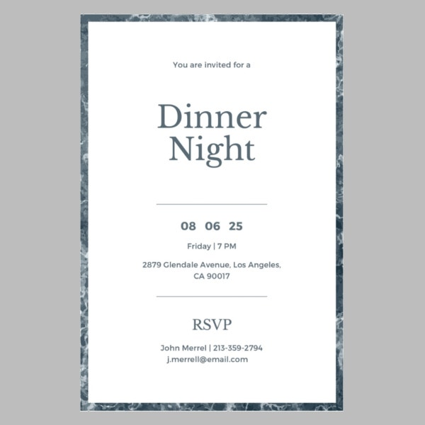 free sample dinner invitation template to print