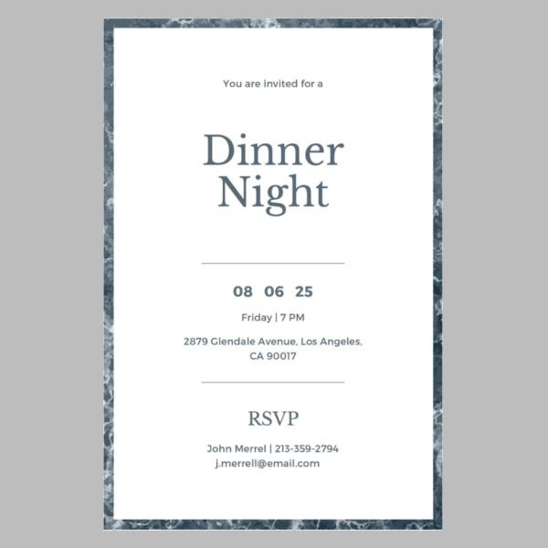 free-sample-dinner-invitation-template