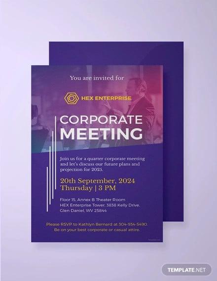 free sample meeting invitation