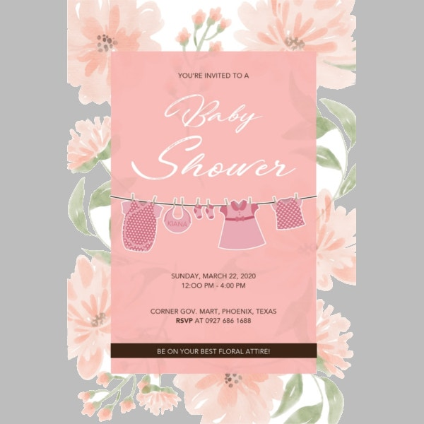 free-simple-floral-baby-shower-template
