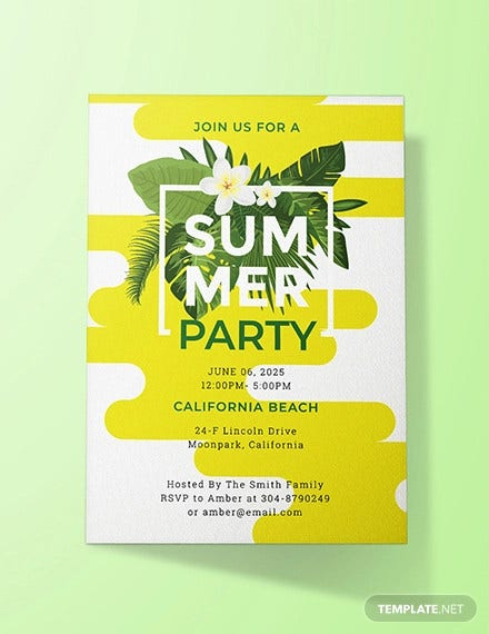 free summer party invitation template1