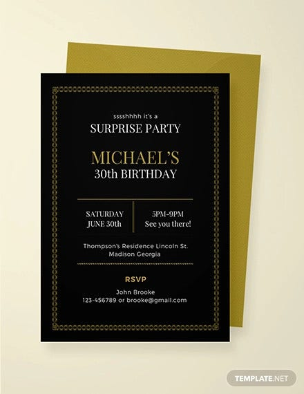 free surprise party invitation template1