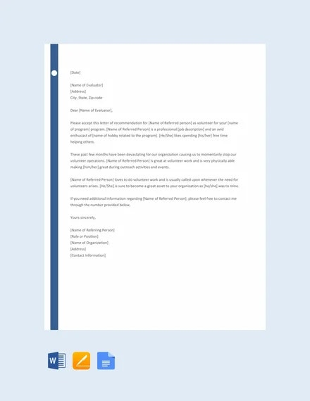 free-volunteer-reference-letter-template