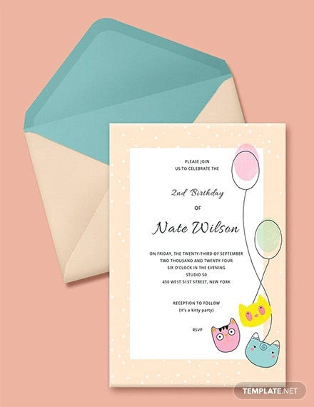 free kitty party invitation template1