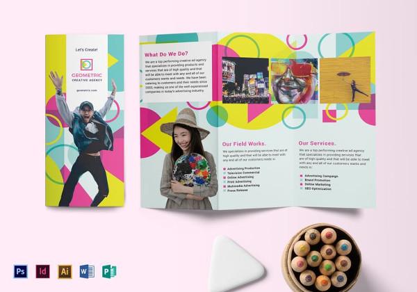 geometric bubble speech brochure template