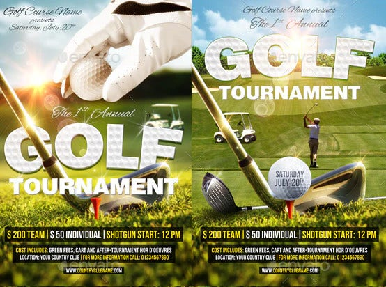 golf evet flyer template