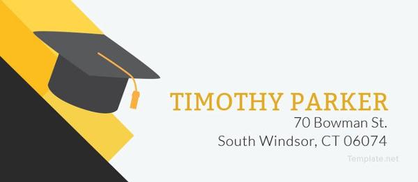 graduation address label template