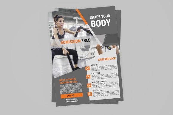 gym fitness center flyer2