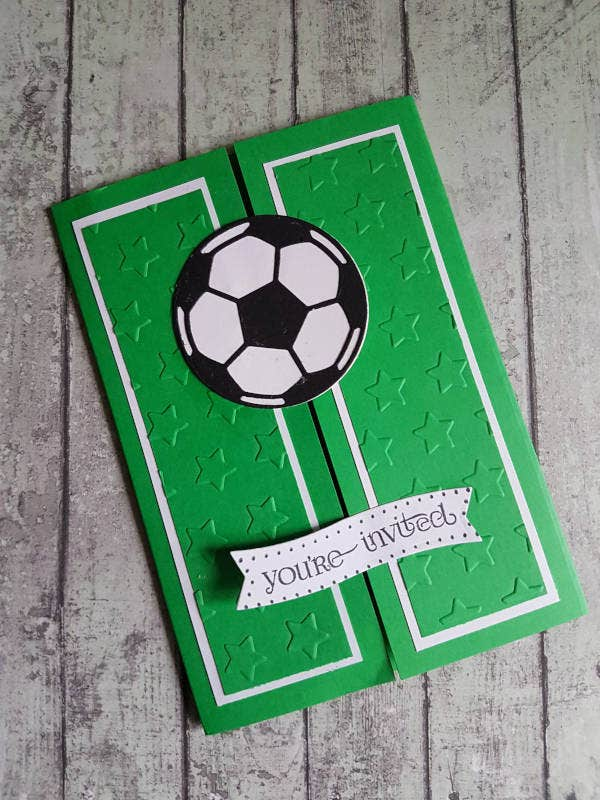 handmade football invitation1
