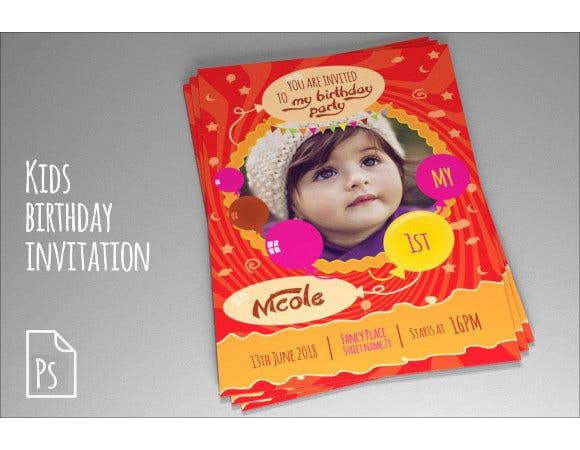 happy birthday invitation card template download