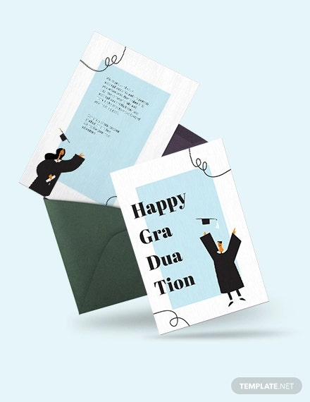 happy graduation card template