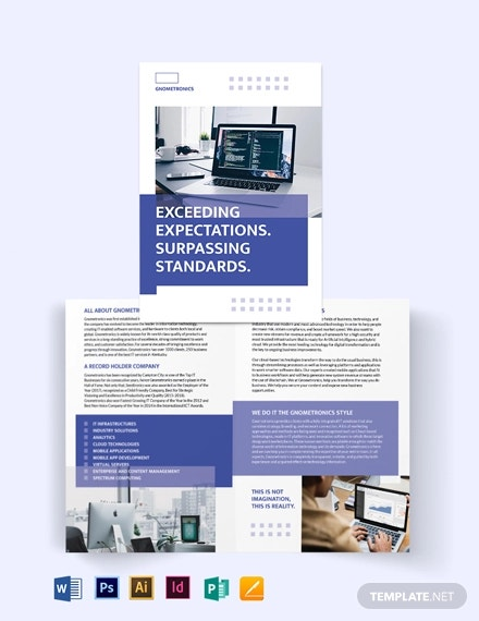 it bi fold brochure template