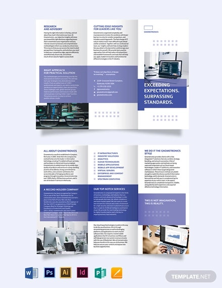 it tri fold brochure template